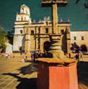 The Church Of San Juan Bautista Of Coyoacan 2  Poster