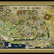 The City Of Quebec Canada Poster