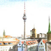 The Cityscape Of Berlin Poster
