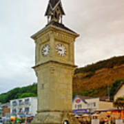 The Clock Tower At Shanklin Poster