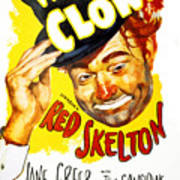The Clown, Red Skelton, 1953 Poster