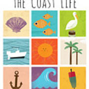 The Coast Life Poster
