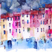 The coloured houses of Portofino Poster