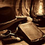 The Cowboy Bible Poster