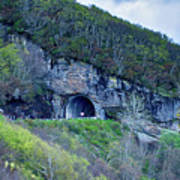 The Craggy Pinnacle Tunnel On The Blue Ridge Parkway In North Ca Poster