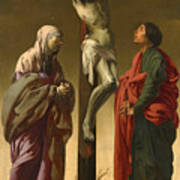 The Crucifixion With The Virgin And Saint John Poster