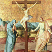 The Crucifixion With The Virgin And St John The Evangelist Poster