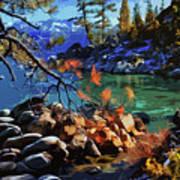 The Crystal Waters Of Lake Tahoe Poster