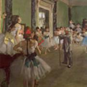 The Dancing Class Poster by Edgar Degas