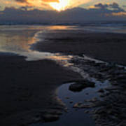 The Days Last Rays At Dunraven Bay Wales Poster