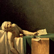 The Death Of Marat Poster
