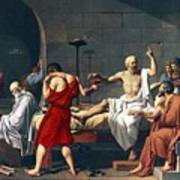 The Death Of Socrates, 1787 Artwork Poster by Sheila Terry