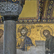 The Deesis Mosaic With Christ As Ruler At Hagia Sophia Poster