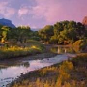 The Delores River At Gate Way Colorado Poster