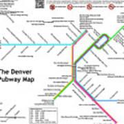 The Denver Pubway Map Poster
