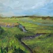 The Distant View Of The Marsh Poster