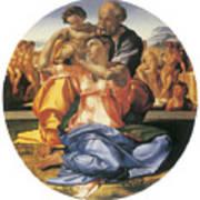 The Doni Tondo Poster by Michelangelo Bounarroti
