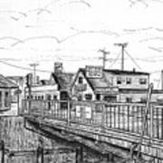 The Drawbridge As Seen From Pjs Poster