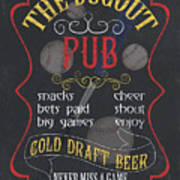 The Dugout Pub Poster
