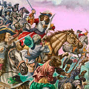 The Duke Of Monmouth At The Battle Of Sedgemoor Poster