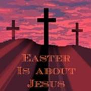 The Easter Cross Poster