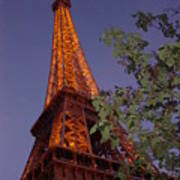 The Eiffel Tower Aglow Poster