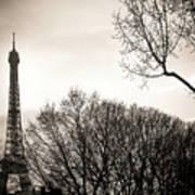 The Eiffel Tower In Backlighting. Paris. France. Europe. Poster