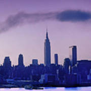 The Empire State Building In New York At 6 A. M. In January Poster