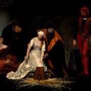 The Execution Of Lady Jane Grey In The Tower Of London In The Year 1554 Poster