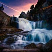 The Falls At Flatrock Poster