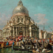 The Feast Of The Madonna Della Salute In Venice Poster