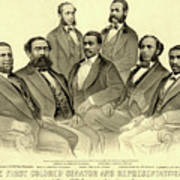 The First African American Senator And Representatives Poster