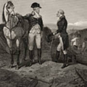 The First Meeting Of George Washington And Alexander Hamilton Poster