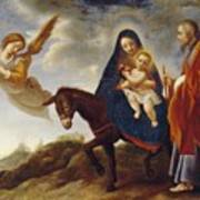 The Flight Into Egypt Poster by Carlo Dolci