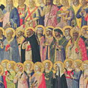 The Forerunners Of Christ With Saints And Martyrs Poster