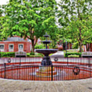 The Fountain At Radford University Poster
