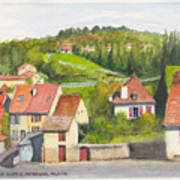 The French Village Of Billy In The Auvergne Poster