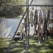 The Fur Trader's Camp 1812 Poster