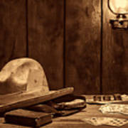 The Gambler Hat Poster