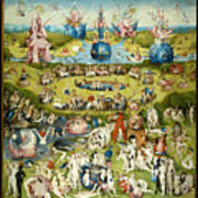 The Garden Of Earthly Delights 1490-1510 By Hieronymus Bosch Poster