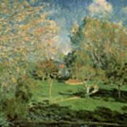 The Garden Of Hoschede Family Poster