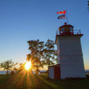 The Goderich Lighthouse At Sunset Poster