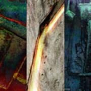 The Gods Triptych 2 Poster by Ken Walker