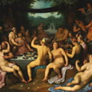 The Golden Age Bacchanal Or The Garden Of Love 1614 Poster