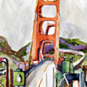 The Golden Gate Bridge San Francisco Poster