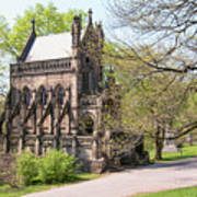 The Gothic Temple In Spring Grove Cemetery Poster