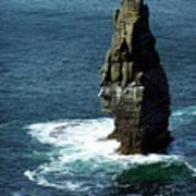 The Great Sea Stack Brananmore Cliffs Of Moher Ireland Poster