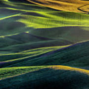 The Green Waves Of Palouse Wa Dsc05032  Poster