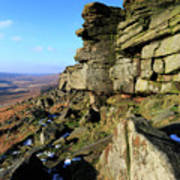The Gritstone Rock Formations On Stanage Edge Poster