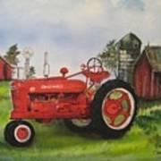 The Hansen Tractor Poster by Kendra Sorum